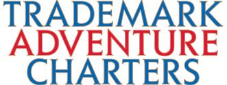 Trademark Adventure Charters lettering